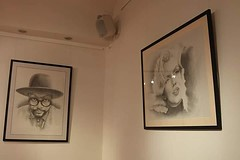 Couple of #drawings up on the wall ready for #thatslife #exhibition at #NormanCrossGallery #Peterborough @iamwill #WillIAm #legend #marlynmonroe #icon #legendary (Tony Nero) Tags: artoftonynero tony nero art peterorough cambridgeshire creative out about craft paintings