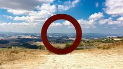 Staccioli Art - Tuscany (dl07portfolio) Tags: volterra tuscany italy countryside staccioli art landscape circle sculpture landart field