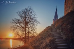 Stairway to Heaven (Stathis Iordanidis) Tags: travel architecture promenade path stairs castle netherlands maas river sundown sunshine sunset