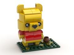 Winnie The Pooh - BrickHeadz MOC (headzsets) Tags: lego legos photography toy toys brick bricks minifigures brickheadz brickheads headz brickhead moc mocs disney disneyland winne pooh tigger bear animation honey pot funko pop