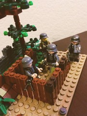 Germans waiting for any signs of allied forces! (thelameguitarist) Tags: lego ww2 german normandy bocage mg nest bunker hedgerow mp28 brickarms