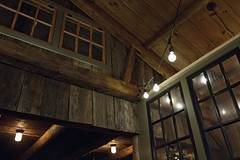 Windows, Walls and Light (brucetopher) Tags: window wednesday light windows frame plane space spaces barn wood antique restaurant bar grille tavern eat behind glass through vaulted