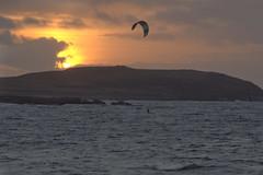 Kiting at sunset (Svein K. Bertheussen) Tags: kiting dragesurfing solnedgang sunset solastranden sola rogaland norway norge sjø hav vann skyer sea water clouds himmel sky