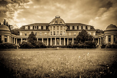 beautiful old manor house from Werner von Siemens - sepia antique- (Peters HDR hobby pictures) Tags: petershdrstudio hdr building manorhouse house park sky sepia architecture haus herrenhaus villa himmel architektur