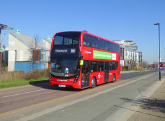 SLN 12443 - SN67XEH - SOUTHERN WAY GREENWICH PENINSULAR - TUE 26TH FEB 2019 (Bexleybus) Tags: north greenwich peninsular se10 southern way bus only lane road stagecoach london selkent adl dennis enviro 400 mmc tfl route 161 12443 sn67xeh