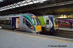 22003 at Connolly, 4/2/19 (hurricanemk1c) Tags: railways railway train trains irish rail irishrail iarnród éireann iarnródéireann 2019 22000 rotem icr rok 3pce 22003 dublin connolly 1710connollysligo