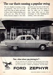 1960 Ford Zephyr Six Sedan Aussie Original Magazine Advertsement (Darren Marlow) Tags: 1 6 9 19 60 1960 f ford z zephyr s six sedan c car cool collectible collectors classic chrome fins a automobile v vehicle e english england b british britain 60s