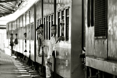 Yangon, central station (57) (Neal J.Wilson) Tags: burma burmese myanmar asia asian transport travelling train track passengers railways station