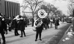 Sunnyside/Woodside St. Pat's For All Parade (neilsonabeel) Tags: nikonn90s nikon nikkor film analogue blackandwhite queens newyorkcity stpatsforall parade marchingband
