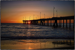 Venice Beach Pier at Sunset (drpeterrath) Tags: sunset sunrise pier venice beach california losangeles goldenhour outdoor seascape landscape
