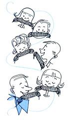 Summer Sociables cookbook illustration (Al Q) Tags: summer sociables cookbook illustration family eat corn cob