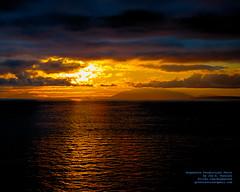 Rising BC Sun Thru the Gulf Islands and the Clouds (AvgeekJoe) Tags: d5300 dslr nikon nikond5300 tamron18400mm tamron18400mmf3563diiivchld georgiastrait straitofgeorgia britishcolumbia canada clouds gulfislands hdr salishsea sunrise water