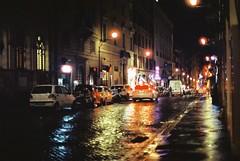 Roma (goodfella2459) Tags: nikonf4 afnikkor50mmf14dlens cinestill800t 35mm c41 film night analog colour streets city roma italy rome road buildings light manilovefilm