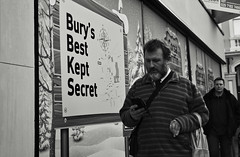 Bury's Best Kept Secret (Bury Gardener) Tags: burystedmunds bw blackandwhite britain monochrome mono england eastanglia uk suffolk streetphotography street streetcandids snaps strangers candid candids people peoplewatching folks nikond7200 nikon buttermarket