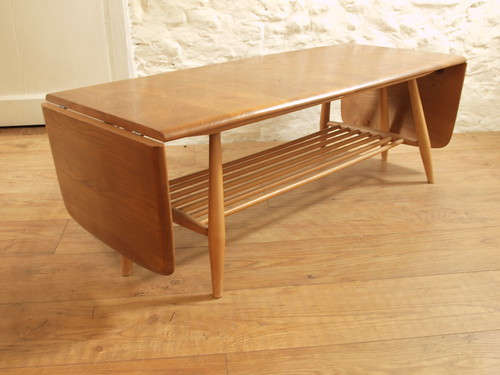 "Ercol light Elm & Beech drop end extending coffee table. • <a style=""font-size:0.8em;"" href=""http://www.flickr.com/photos/69514980@N03/46521425094/"" target=""_blank"">View on Flickr</a>"