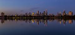 Blue City (Jared Beaney) Tags: canon6d canon australia australian photography photographer travel victoria bluehour melbourne city cityscapes cityscape reflections reflection albertpark albertlake night