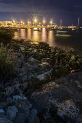 Porto Cesareo beach series - 4 (Manuel Gennerich) Tags: portocesareo beach strand night nacht nachtaufnahme langzeitbelichtung landschaftsaufnahme landscape blendensterne sonya6500 italy italien sigma16mmf14