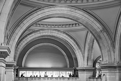 The Met-2 (albyn.davis) Tags: museum met nyc newyorkcity urban city blackandwhite building architecture ceiling arches light travel