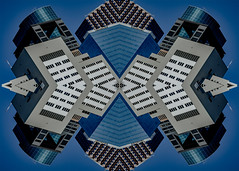 (jfre81) Tags: houston downtown buildings architecture folded flipped mirrored kaleidoscope city urban art james fremont photography jfre81 canon rebel xs 2019