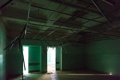The Green Room (mistermacrophotos) Tags: abstract handheld abandoned green jordan derelict hospital urban exploration light shaft silence beams dark decay eerie middle east high iso low