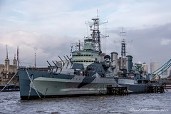 HMS Belfast at Dusk (muppet1970) Tags: hmsbelfast london warship riverthames ww2 lightcruiser royalnavy townclass