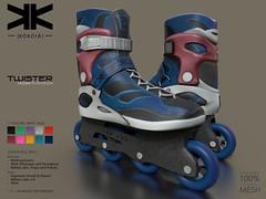 Twister :: Unisex RollerBlade :: 10 Colors ({kokoia}) Tags: skate kokoia shoes ankle boots roller wheels maitreya belleza slink mesh signature rollerblade