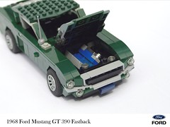 Ford Mustang 1968 390 GT Fastback (lego911) Tags: ford motor company 1968 mustang gt 390 v8 steve mcqueen classic film movie usa american auto car moc model miniland lego lego911 afol howtobuildbrickcars 1960s cinema
