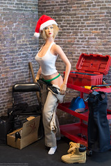 2018 Phicen/TBLeague Advent Calendar - Day 18 Outtake (edwicks_toybox) Tags: 16scale tbleague zcworld bbi boots construction coolgirl cygirl destiny femaleactionfigure hardhat phicen santahat seamlessbody
