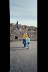 The Pier (Daire Quinlan) Tags: dublin film 35mm agfa asa200 200asa colour c41 diy fujihunt nikon af600 compact 28mm lara mark adamovic quinlan walk pier dunlaoghaire