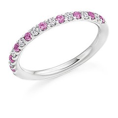 Pretty pink sapphires are teamed with diamonds in this gorgeous band 🌸 . . . #voltairediamonds #diamond #diamonds #diamondring #ringinspo #engagementring #engagementrings #ringgoals #engaged #isaidyes #ihavethisthingwithdiamonds #gemstones (VoltaireDiamonds.ie) Tags: diamond rings engagement jewellery