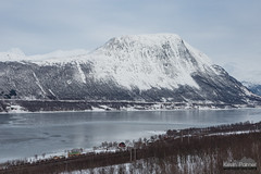 Near Nordkjosbotn (kevin-palmer) Tags: norway arctic europe winter march snow snowy arcticocean sea water fjord ice icy frozen mountains nikond750 cloudy overcast tamron2470mmf28 scandinavianmountains balsfjorden cold tromscounty