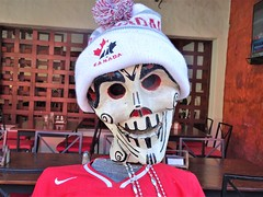 Hockey (knightbefore_99) Tags: mexico mexican tangolunda tropical oaxaca awesome art hockey toque hat skull red white canada funny best great