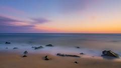 Low Tide (Mike Ver Sprill - Milky Way Mike) Tags: lrthefader landscape seascape low tide sandy hook nature natural rocks rocky rock sunrise sunset clouds long exposure sea ocean east coast atlantic new jersey nj
