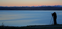 Lake Tekapo photographer vista (WORLDS APART PHOTO) Tags: laketekapo photograher sundown dusk