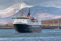 Ferry from Mull arrives (Angus Duncan) Tags: cal caledonian calmac car ferry carferry macbrayne oban argyll ship shipping ferries calmacferries mvisleofmull mv isle mull kerrera snow scotland scottish scottishhighlands winter snowymountain snowy mountain hill island hebrides westernisles western eileansiar eileanansiar