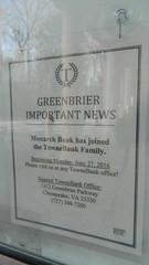 Monarch Bank merger notice (RetailByRyan95) Tags: townebankmortgage townebank monarchbank abandoned closed dead empty former old vacant chesapeake va virginia