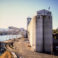 (edwardlepine) Tags: hasselblad square analog film portland oregon unitedstates silos sky e6 roadtrip 2012 flickr provia100f