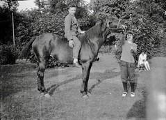 Boy sitting on a horse (vintage ladies) Tags: vintage blackandwhite photograph photo male horse boy girl girls female