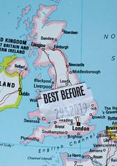 best before 29 mar 19 (Shaun the grime lover) Tags: macro map atlas uk unitedkingdom eu europeanunion brexit politics controversy disagreement debate split divided best before date sticker deadline article50