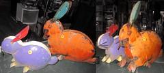 20180526 1240 - yardsale haul - rabbits lawn ornaments - 13401286-diptych-33401204
