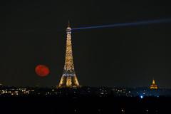 Moonrise over Paris / 21 Feb. 2019 (in explore) (Gwenael B) Tags: moonrise gibbous waning eiffel tower toureiffel paris urban city atnight cityscape parisbynight lune nikond5200 tamron16300mm nikonfr nikonfrance