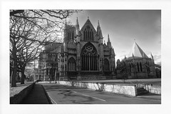 Lincoln Cathedral (Mallybee) Tags: lincoln lincolnshire cathedral bw blackwhite landscape mallybee apsc xmount bayer fujinon 16mm f14 prime