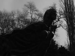 Park statue (creatorspics) Tags: statue park budapest hungary blackandwhite