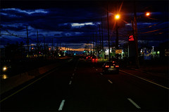 It's Almost 7:30 (raymondclarkeimages) Tags: rci raymondclarkeimages 8one8studios flickr canon google outdoor 6d fullframe 70200mm usa road lights cars traffic night colors sky clouds highway lines