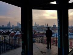 Observing Warszawa (ewitsoe) Tags: warsaw warszawa poland cityscape sunset samsunggalaxy8s mobilephotography silhouette city urban street scenic building travel architecture europe polska man standing enjoy moment