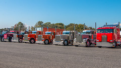 Group shot (NoVa Truck & Transport Photos) Tags: truck big rig 18 wheeler 2017 large car mag southern classic ta lexington va