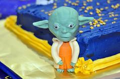 Cub Scouts Blue & Gold Ceremony Star Wars Cake 7 (rikkitikitavi) Tags: custom cake dessert vanilla chocolate buttercream fondant handsculpted handmade starwars r2d2 yoda stormtrooper chewbaca bb8 cubscout blueandgoldceremony bluegoldbanquet