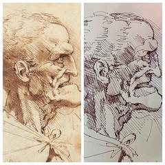 Sketch of an old man - Da Vinci (schunky_monkey) Tags: fountainpen penandink ink pen jounral sketchbook illustration art drawing draw sketching sketch study oldman artist master davinci leonardo