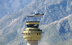 Cirrus and KPSP Tower (John W Olafson) Tags: n891ar cirrus kpsp controltower palm springs airport