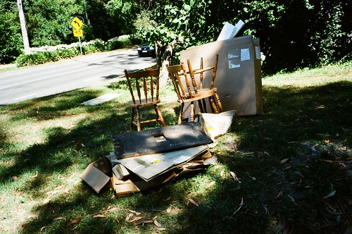 Thrown out chairs